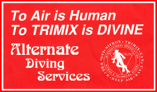 6 Alternate Diving Services sticker