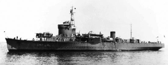 The Japanese minelayer HIJMS Itsukushima was sunk by the Dutch submarine Hr. Ms. Zwaardvisch in the Java Sea, and the wreck discovered only weeks after Hr. Ms. De Ruyter and Hr. Ms. Java