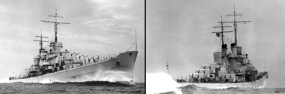 USS Atlanta during speed trials
