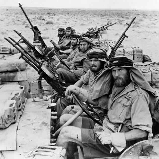 Men of the SAS, returning from a 3-month trip behind enemy lines during war in North Africa CREDIT: HULTON ARCHIVE/GETTY IMAGES