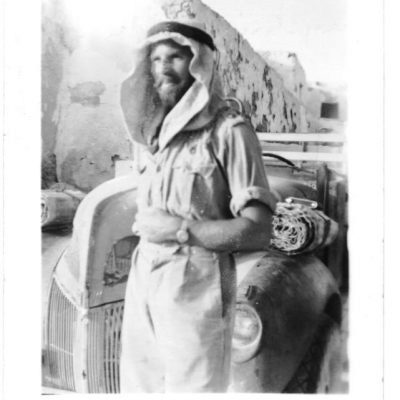 Capt Jake Easonsmith of the LRDG who took the photograph of the aftermath of Operation Squatter CREDIT: THE FAMILY OF THE LATE LT-COL 'JAKE' EASONSMITH, DSO, MC