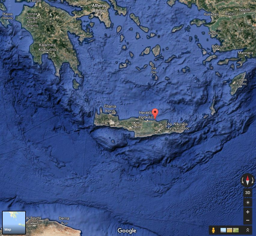 Anissaras in Crete (source: Google Maps)