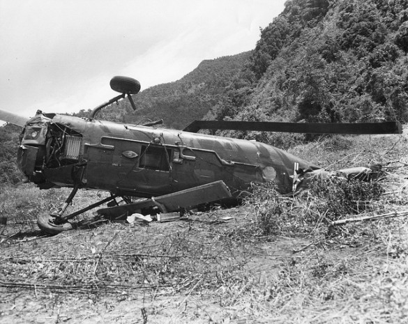 a-h-34-helicopter-made-a-crash-landing-at-the-don-talon-arvn-outpost-the-helicopter-was-damaged-beyond-repair-and-had-to-be-destroyed-photo-david-hugel-585x465