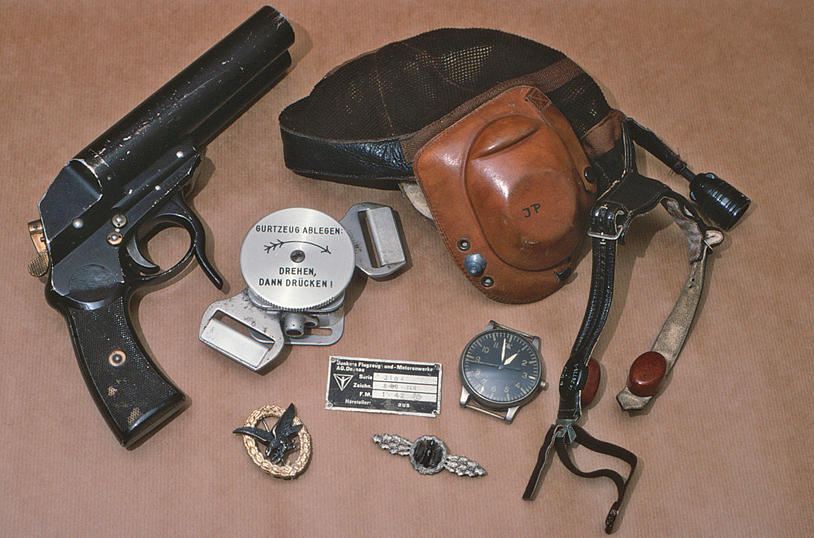 Luftwaffe artefacts in a private collection on Malta