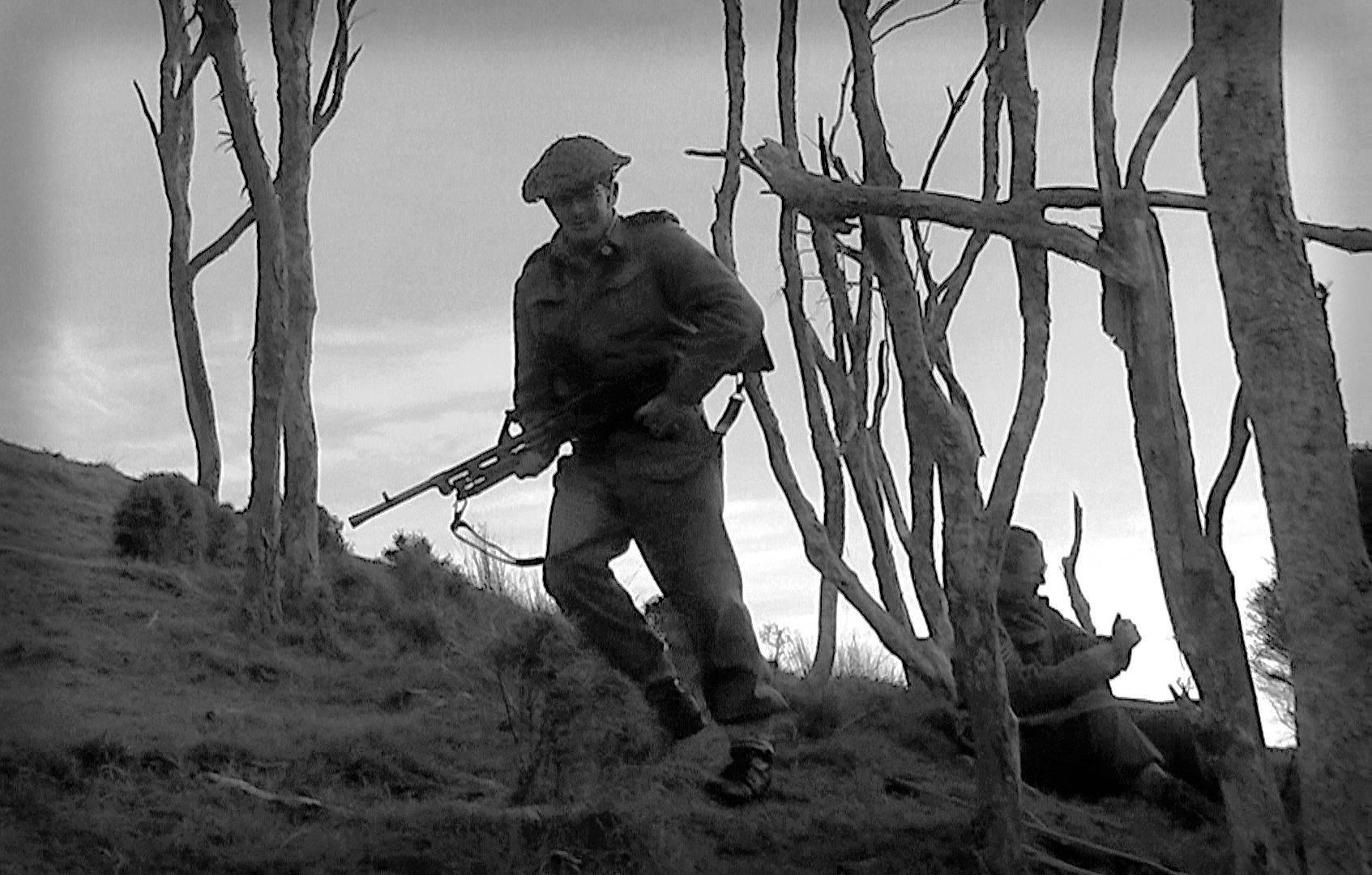 A bren gunner during a tactical.