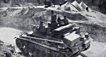 German Panzer Korps PzKpfw III XI protects a mountain pass Greece 1941-01
