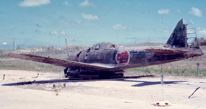 Mitsubishi A6M Zero Tail 43-188 shot down in 1944 over the island of Guam