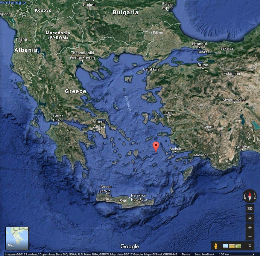 Levitha island, located at a strategic point in the Aegean
