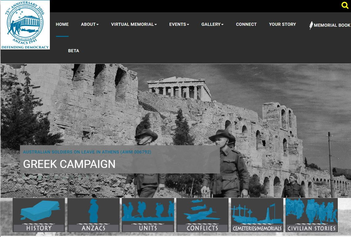 The Official website of the Joint Alliance at https://www.anzacsofgreece.org/en/