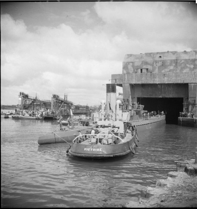 Lorient U-Boat Base: 6 June 1946, U123 becomes… French ...