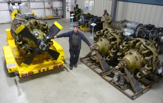 the (3) almost new Bristol Hercules engines in Canada for the Halifax rebuild, there are (4) other used Hercules engines also acquired, not shown in this photo (quality not that good), all (7) Hercules engines now stored at the Bomber Command Museum of Canada in Nanton, Alberta near CALGARY.
