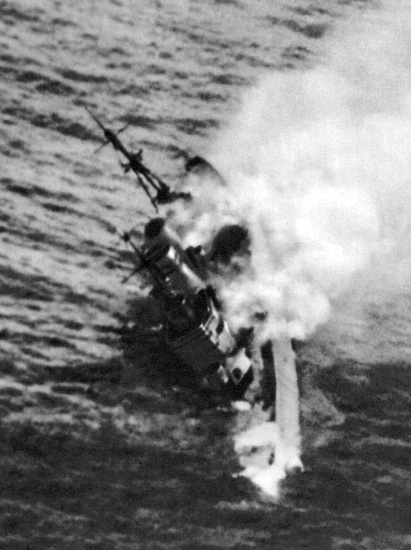 HMS Exeter sinking, Java Sea, 1st March 1942