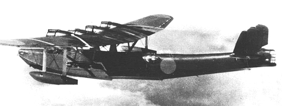 An IJN Kawanishi H6K flying-boat