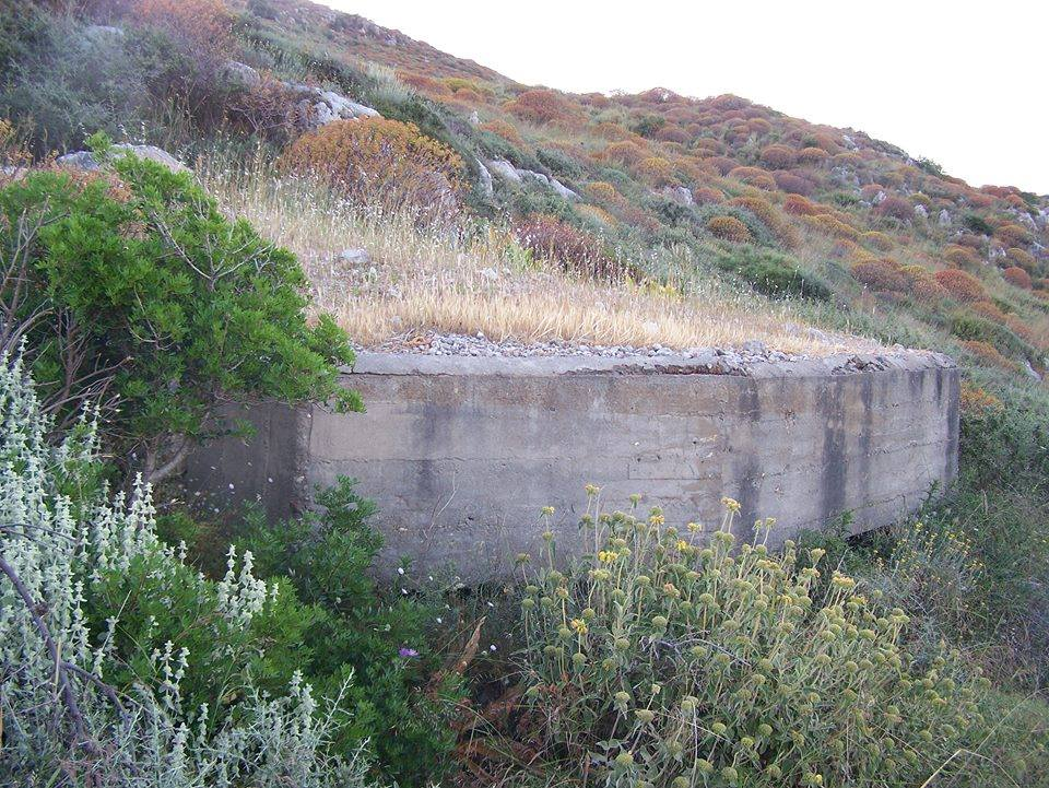 The WW2 concrete machine gun post in Gribiliana, close to Kolymbari