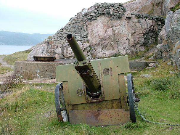A similar gun used by the Germans for the coastal defenses in Norway