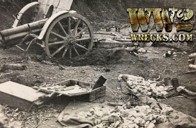 Εγκαταλελειμένο (από τους αντάρτες)πυροβόλο Ιταλικής κατασκευής κατά την διάρκεια εκκαθαριστικών επιχειρήσεων στα Άγραφα