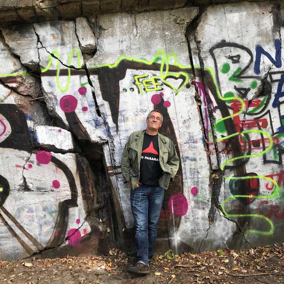 This may look like a normal graffiti wall but it's actually a remaining part of the Flak Tower at Volkspark Friedrichshain.