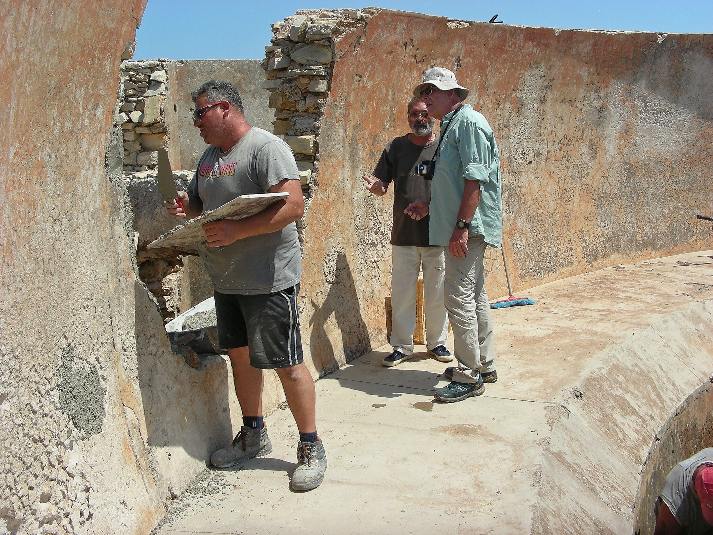 During the restoration work at the Acoustic Wall of Leros