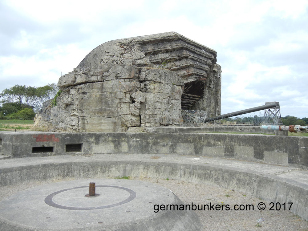 A 683 gun casemate bunker at the Crisbecq Batterie in Normandy