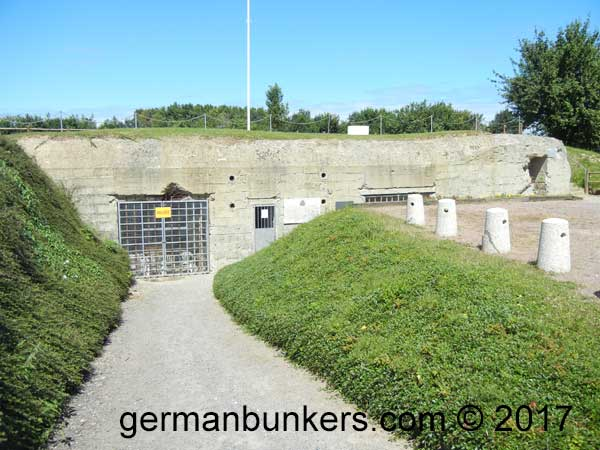 The rare 605 type bunker at the Hillman Batterie complex in Normandy
