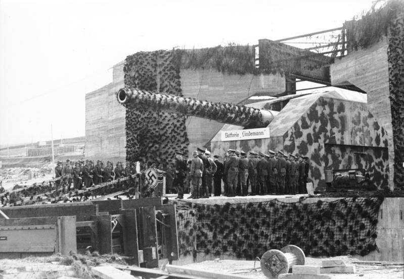 The Lindemann batterie as she stood in 1942 photo credit Bundesarchiv
