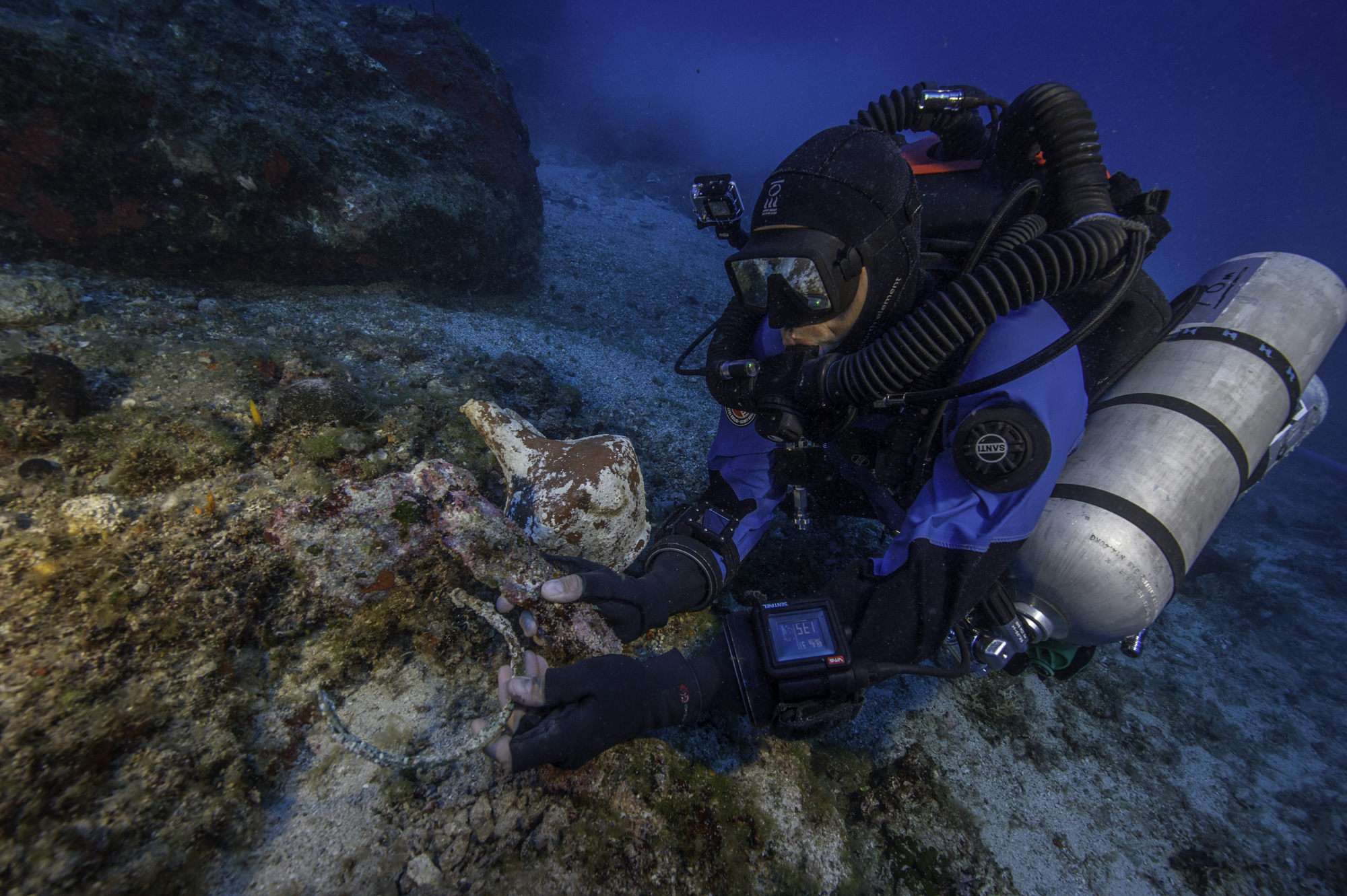 The famous Antikythera Shipwreck has yielded some of the most interesting ancient artifacts ever found. Photo by Brett Seymour