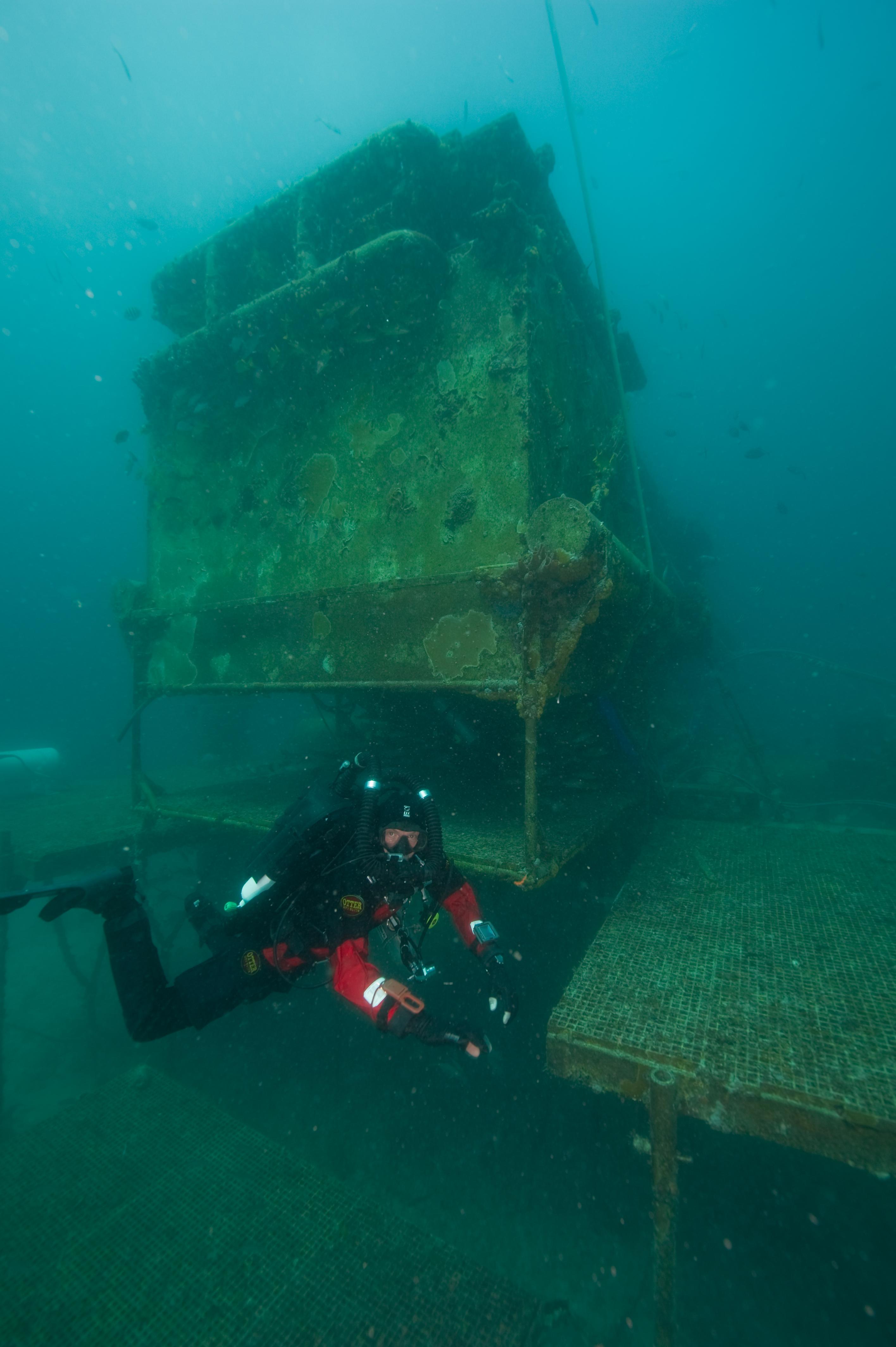 Phil Short at the Aquarius habitat in Key Largo