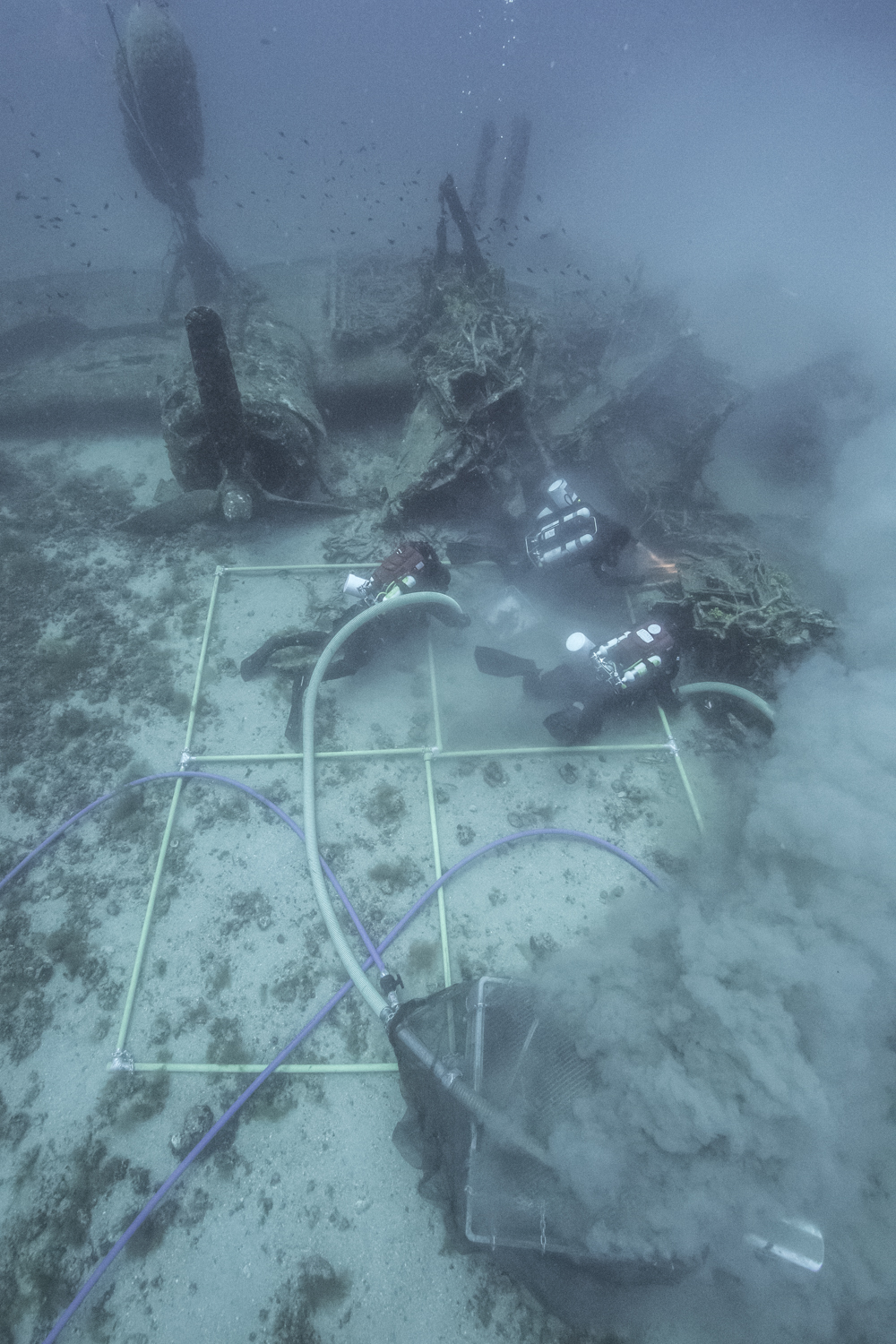 "The recovery process at the B-24J ""Tulsamerican"" WW2 aircraft wreck"