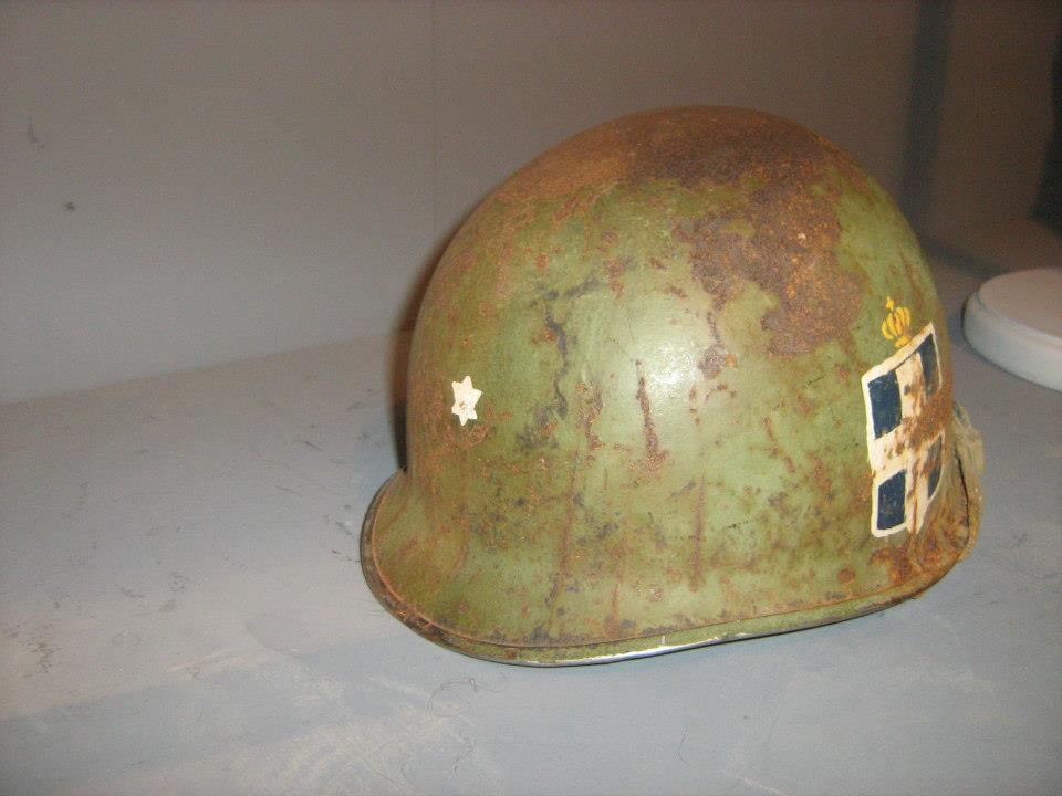 Κράνος Μ1 Έλληνα ανθυπολοχαγού από τον Πόλεμο της Κορέας