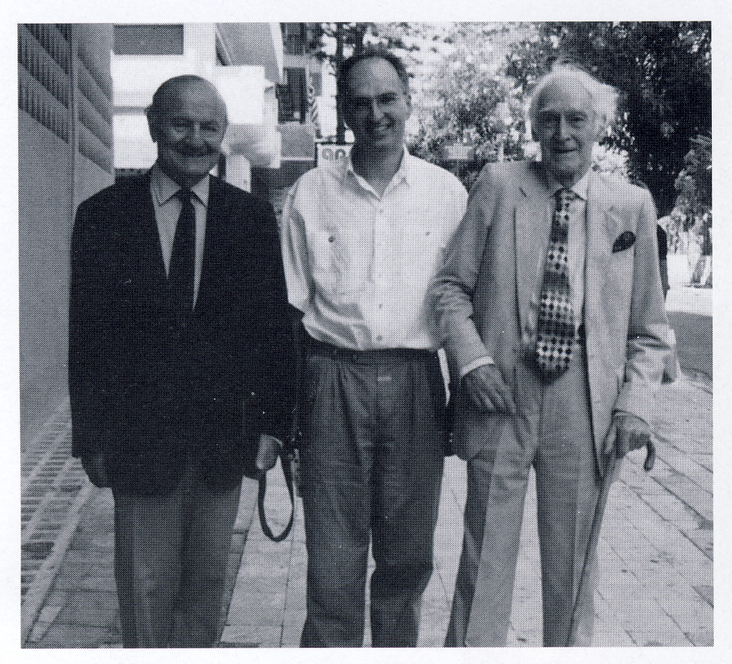 with Lord Jellicoe and David Sutherland on Rhodes 1999