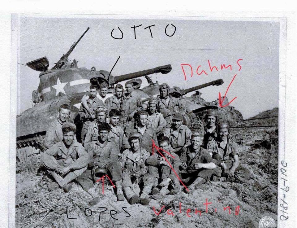 1st platoon, A Compnay, 710th Tank Battalion training in San Luis Obisbo in early 1944.