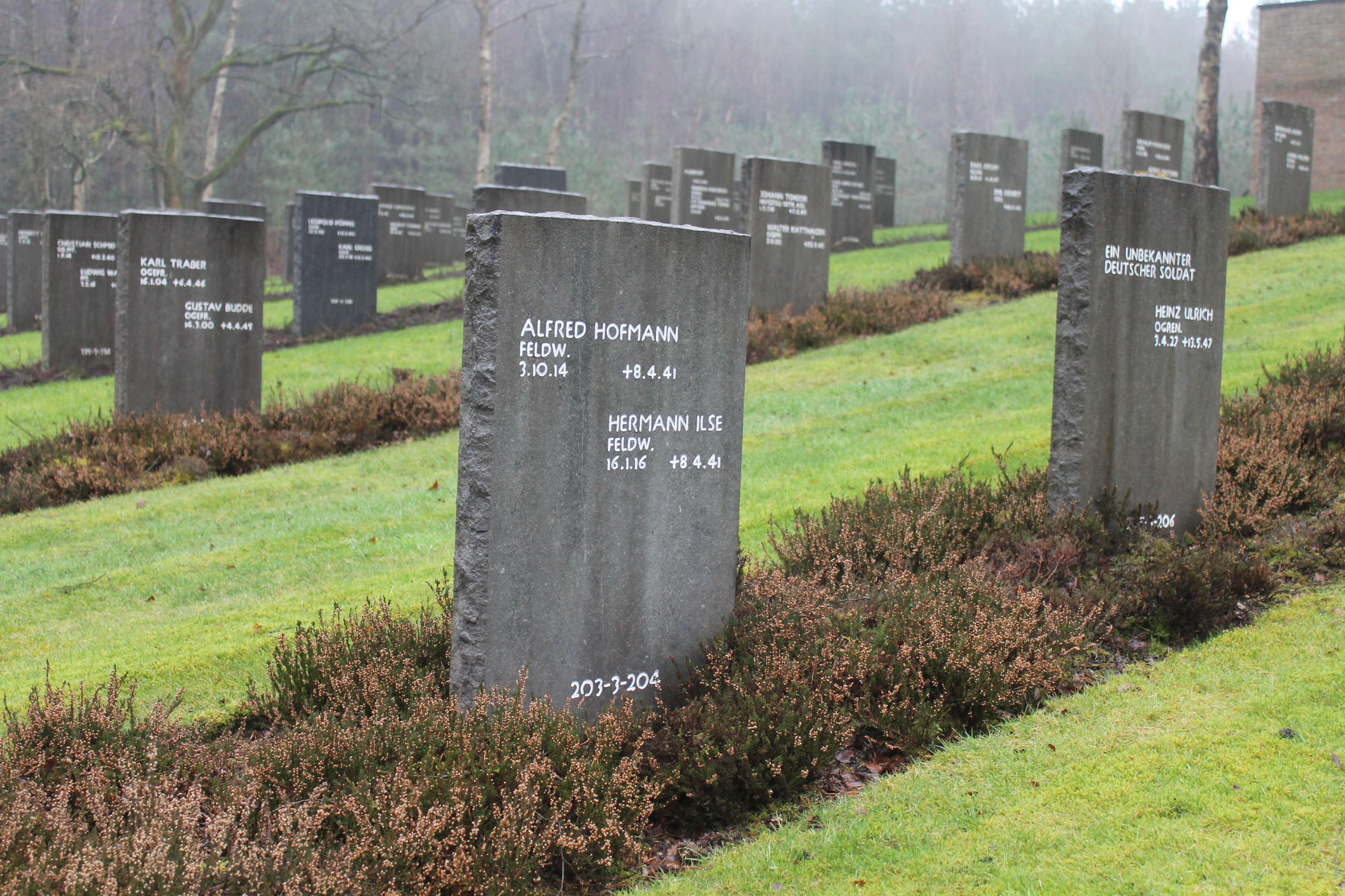 Fw. Hofmann & Fw. Ilse both now lie at the German Military Cemetery, Cannock Chase, Staffordshire