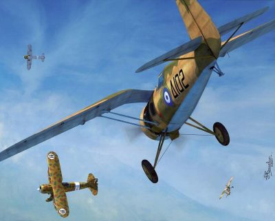 PZL P-24 Greek Air Force vs Fiat CR 42, november 1940, by Jerry Boucher