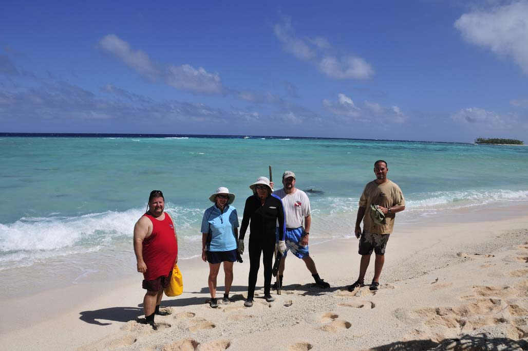 Photo of the expedition team at Gagibu island