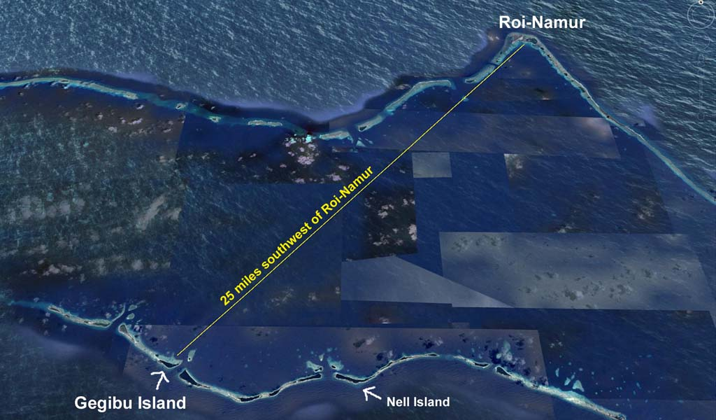 Roi to Gegibu in Kwajalein Atoll