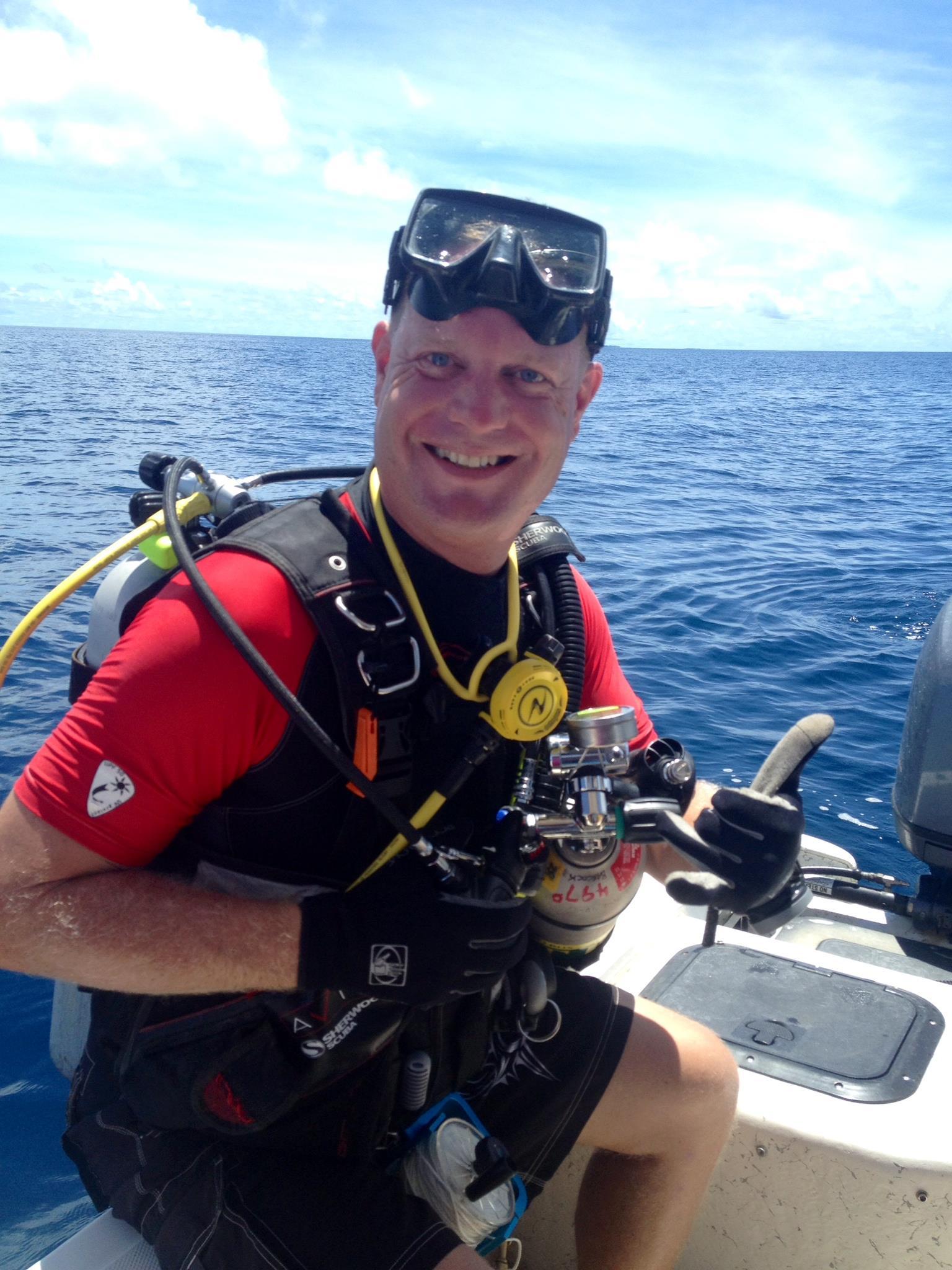 Dan Farnham, explorer and author, based in Kwajalein Atoll.