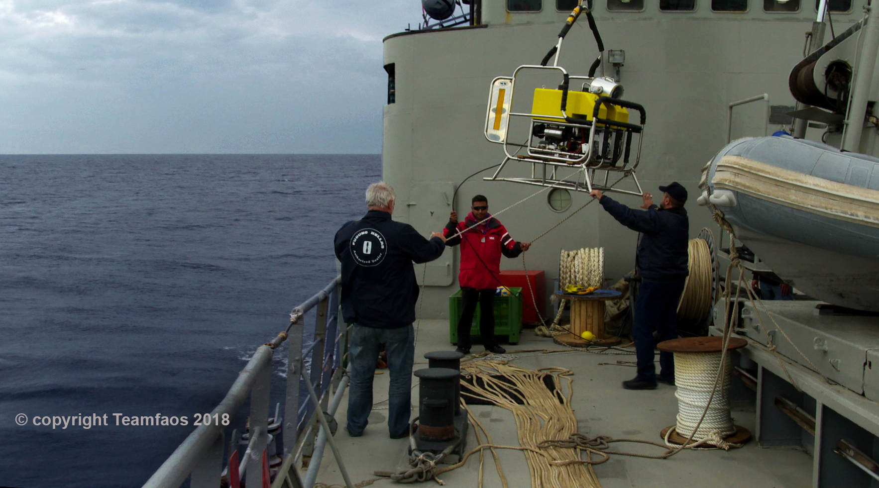 Σύγχρονα τεχνικά μέσα απαιτήθηκαν για την κινηματογράφηση του ναυαγίου, όπως το εικονιζόμενο ρομποτικό μη επανδρωμένο υποβρύχιο τηλεχειριζόμενο όχημα.