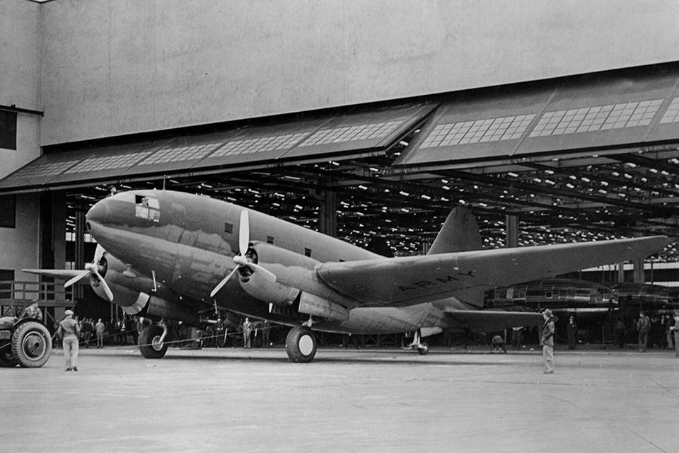 The C-46 first flew in March of 1941. At the time, C-46 was the largest twin-engine aircraft in the world, and was the largest and heaviest twin-engine aircraft to see service in World War II.