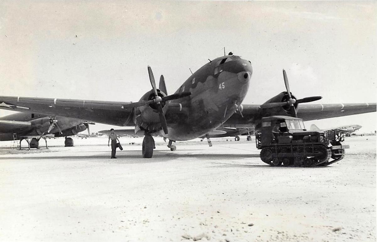 R5C-1 Commandos of VMR-252 on Kwajalein Island, January 1945. (Dan Farnham collection)