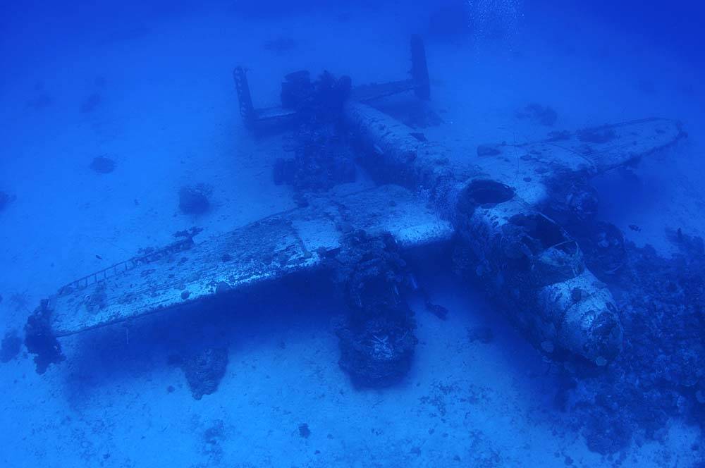 Once a proud flying machine, this Mitchell now offers a unique scuba diving experience with a lot of History around it
