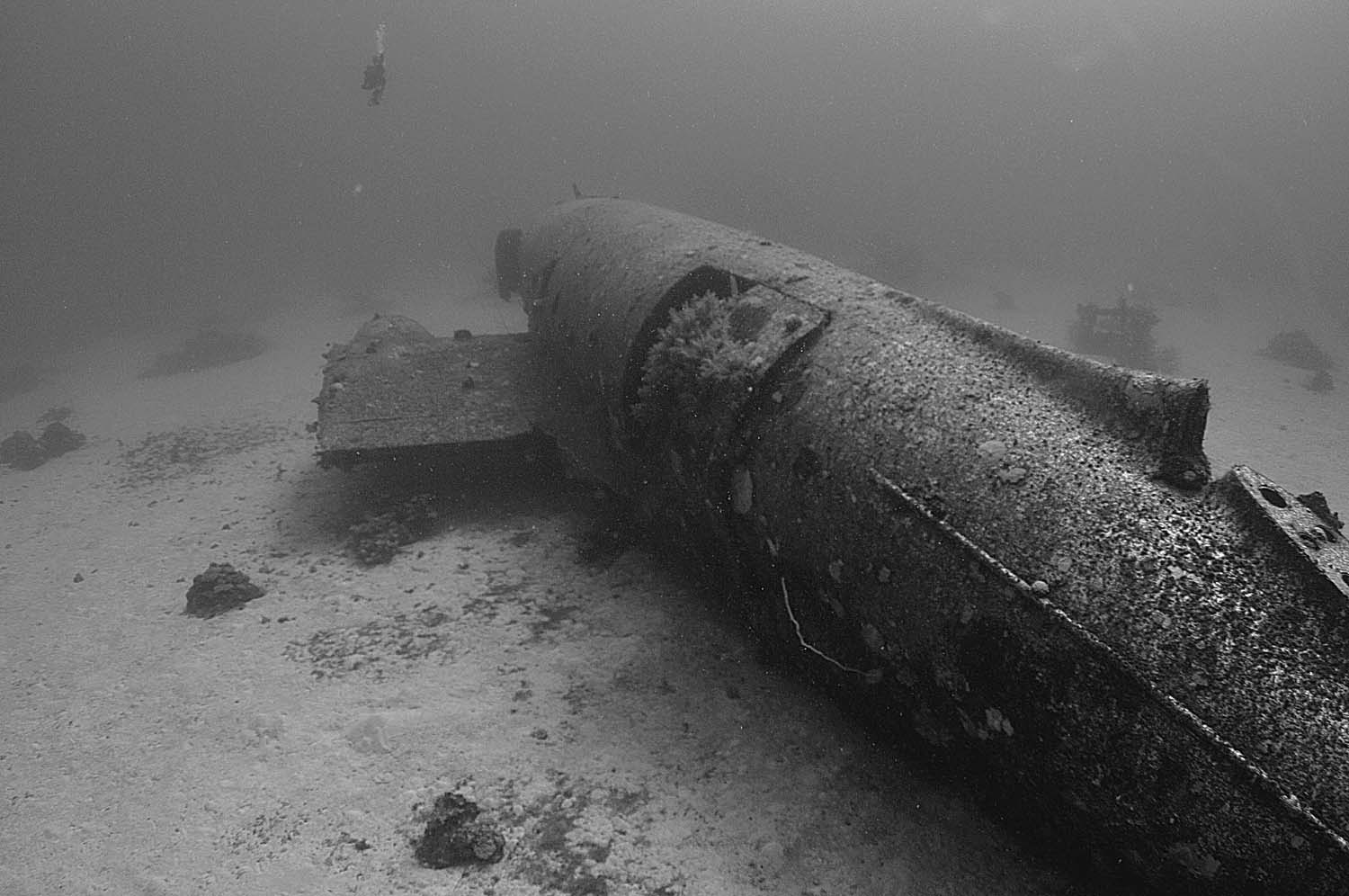 Side view of the Commando wreck
