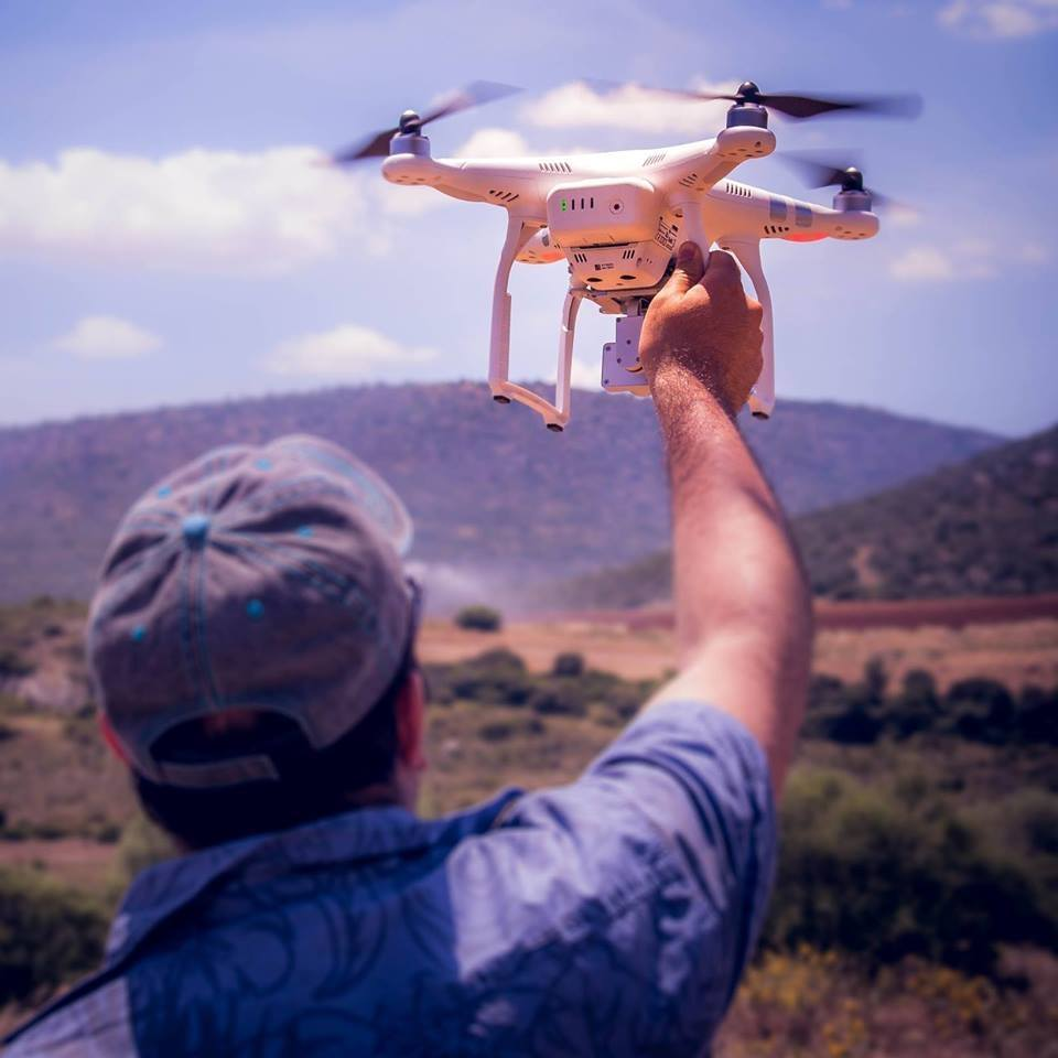Drone pilot Mr. John Haanity