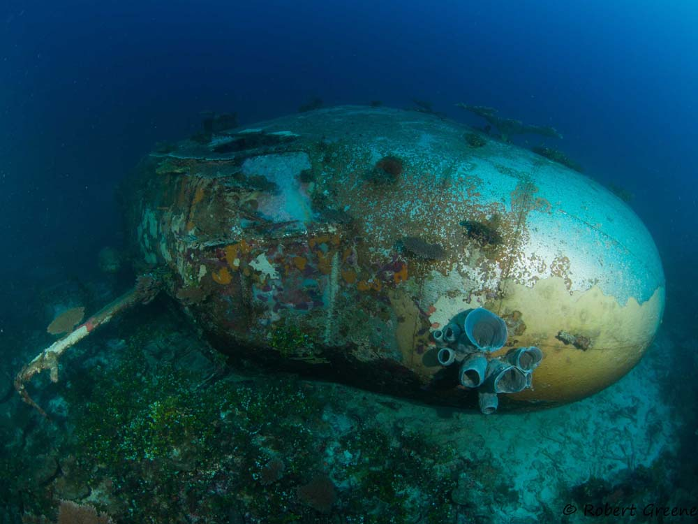 Nose section of PB2Y-5R BuNo 7075. (courtesy of Bob Greene/Kwajalein MIA Project)