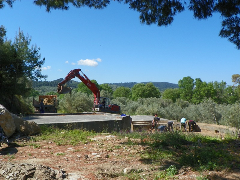 The local Municipality offered heavy machinery to assist the project