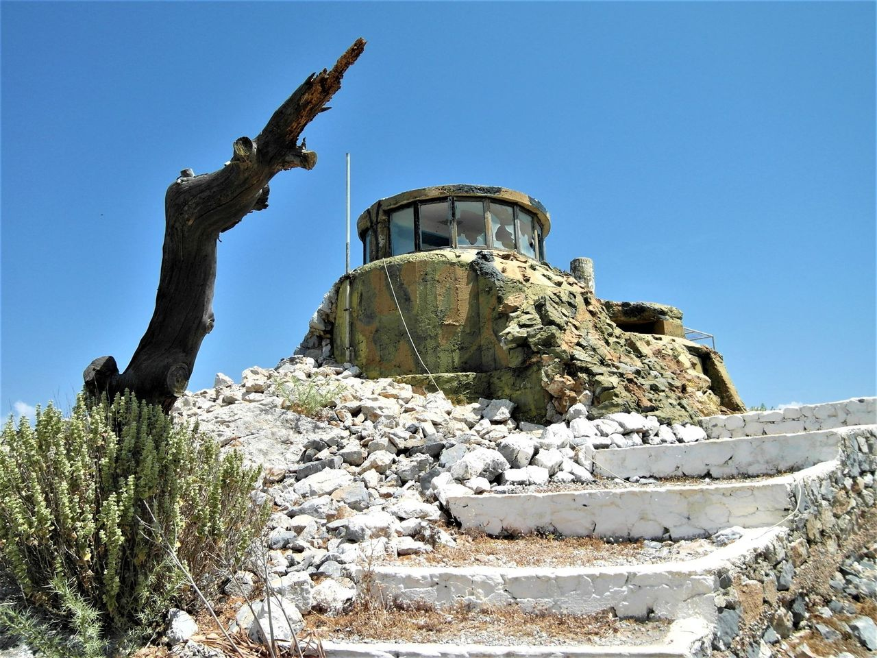 A view of the observation post on Apitiki
