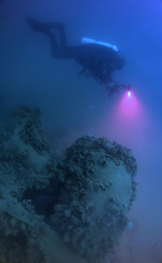 Scuba divers explore this WW2 Wreck in Greece