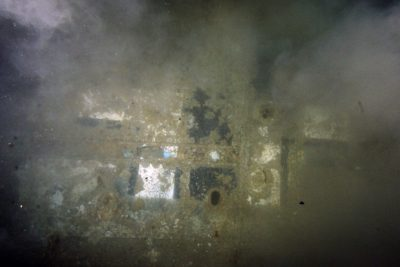 The Balkenkreuz on the wing of the aircraft wreck. Photo Credit: Vassilis Mendogiannis