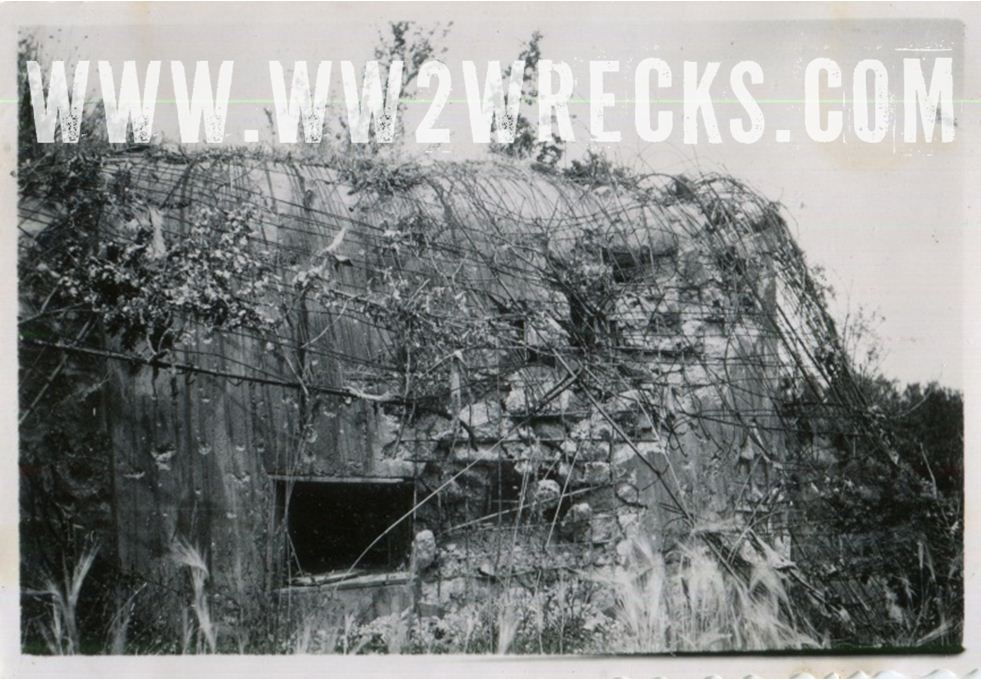 This bunker bears the scars of direct artillery hits.