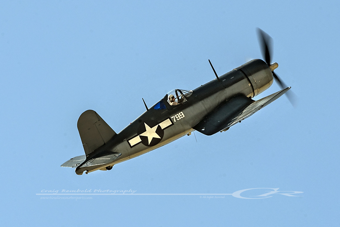 Roi combat veteran, F4U-1 BuNo 17799, in flight over southern California. (photo from the internet)