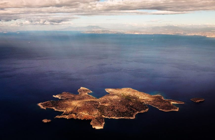 Fleves island, with Athens in the background